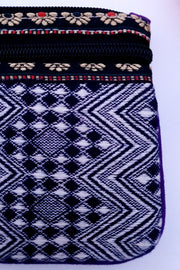 Indian Artizans - Purple and White Handmade Multipurpose Pouch