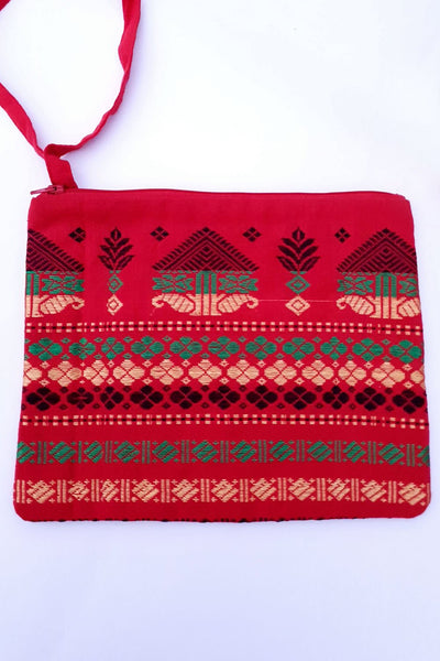 Indian Artizans - Red Handmade Multipurpose Pouch