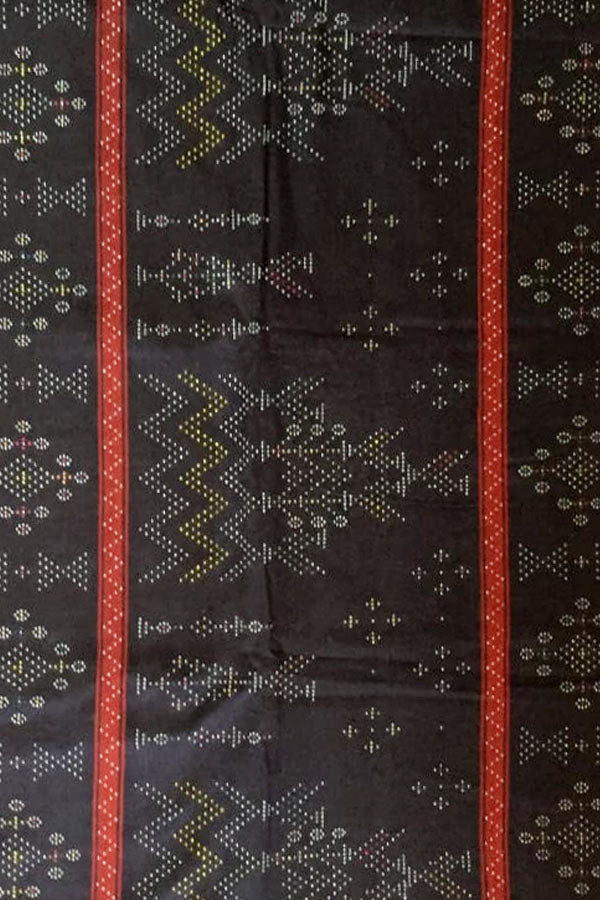 Black Cotton Tangaliya Saree