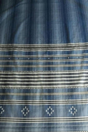 Indian Artizans - Blue BlackGrey Cotton Silk Saree From Bhuj