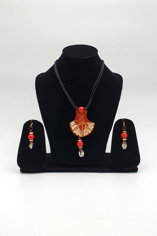 Indian Artizans - Brown Traditional Handmade Bhuj Jewellery Set