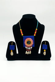 Indian Artizans - Blue Traditional Handmade Bhuj Jewellery Set