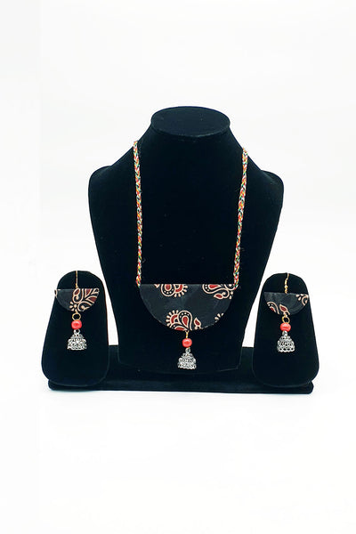 Deep Brown Handmade Traditional Bhuj Jewellery Set