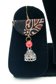 Indian Artizans - Deep Brown Handmade Traditional Bhuj Jewellery Set
