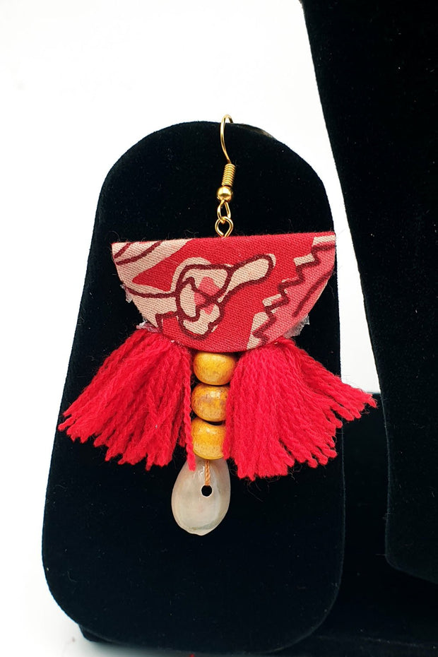Indian Artizans - Red Handmade Traditional Bhuj Jewellery Set