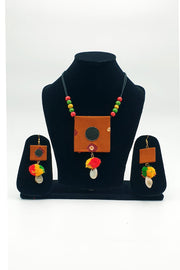 Indian Artizans - Mustard Handmade Traditional Bhuj Jewellery Set
