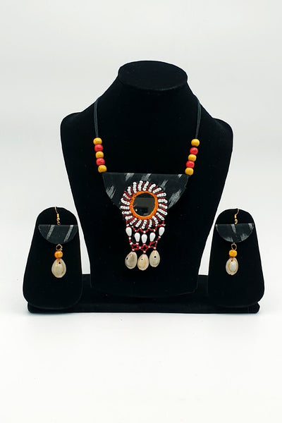Indian Artizans - Black Traditional Handmade Bhuj Jewellery Set