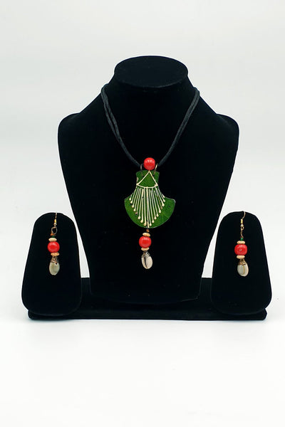 Indian Artizans - Green Traditional Handmade Bhuj Jewellery Set