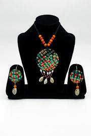 Indian Artizans - Multicoloured Traditional Handmade Bhuj Jewellery Set