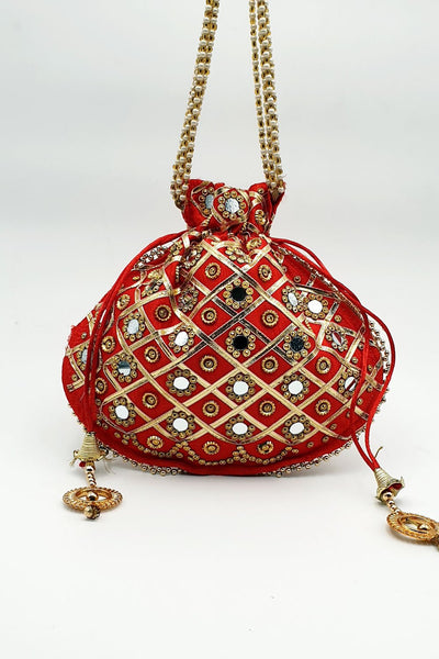 Indian Artizans - Red Potli