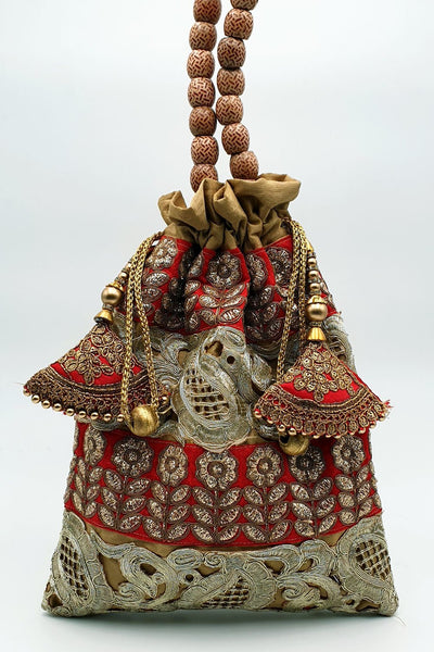 Indian Artizans - Gold Full Brocade Potli