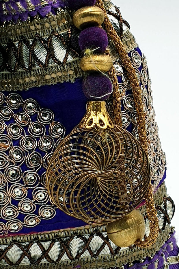 Indian Artizans - Purple Full Brocade Potli