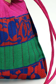 Indian Artizans - Multicolor Pleated Potli