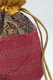 Indian Artizans - Multicolor Kantha Potli