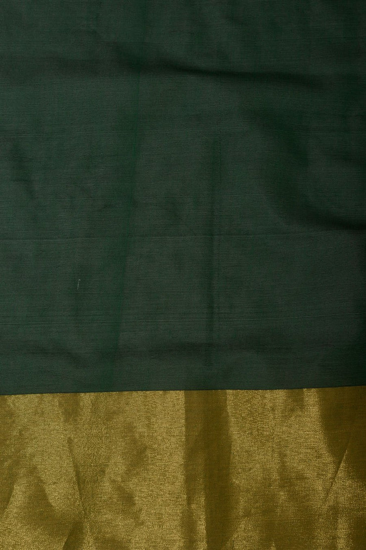 Shop Online for Green Handcrafted Cotton Kasuti Saree | Indian Artizans