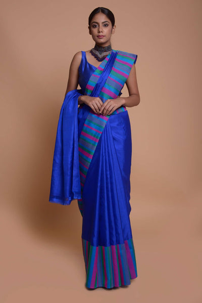 Shop online for Blue Kanjeevram Saree | Indian Artizans