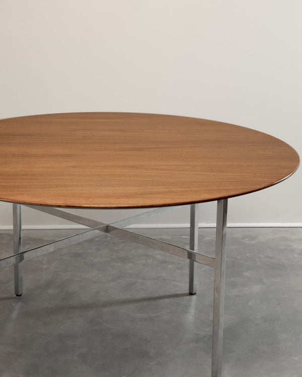 Florence Knoll Round Teak Table