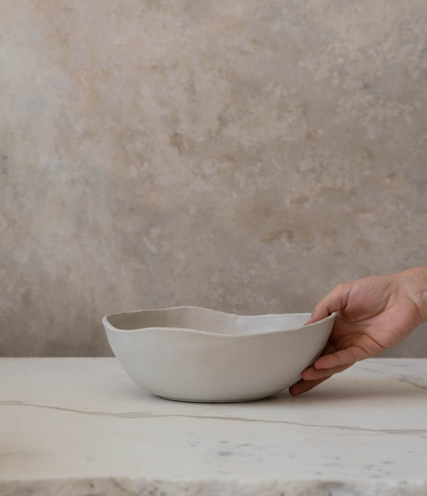 Raw Edge Serving Bowl