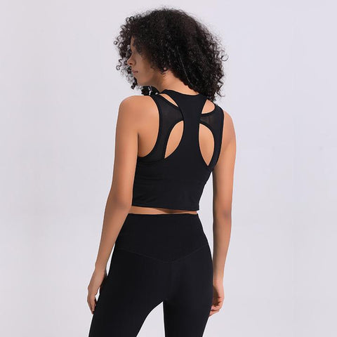 shop hollow out yoga top