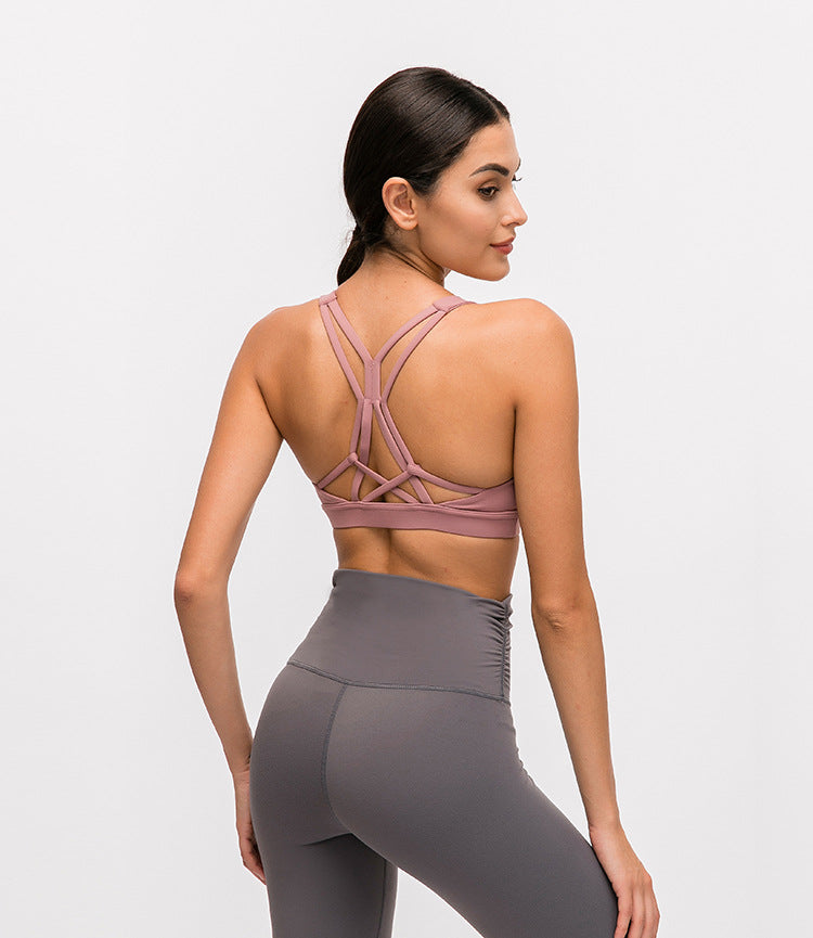 Strappy Sports Yoga Bra