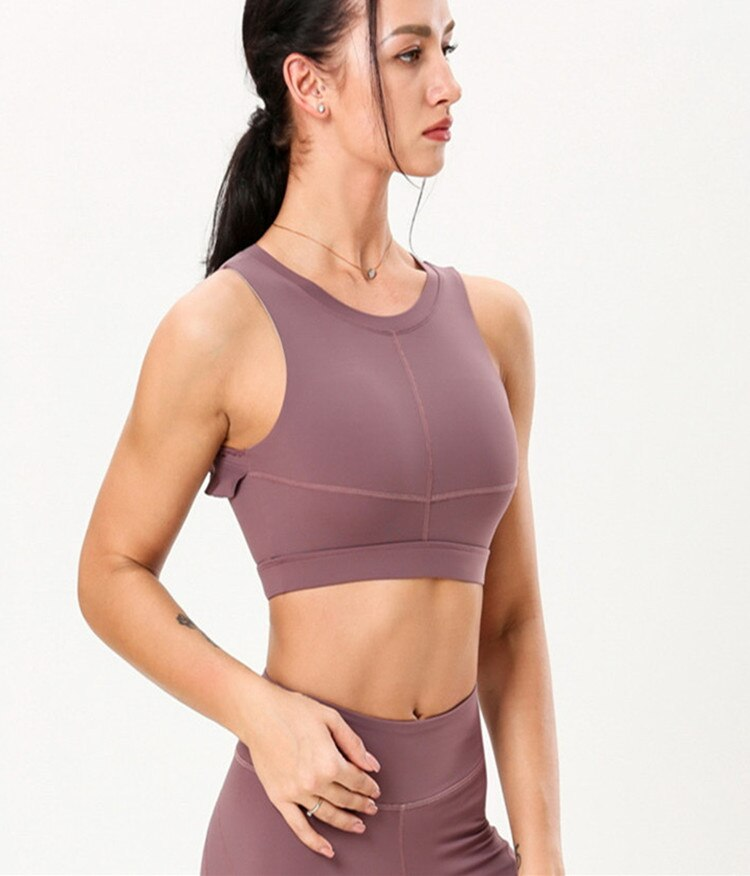 Backless Ruffled Yoga Bra