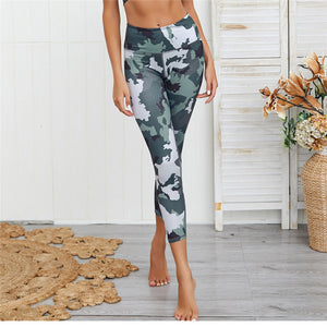 Camo Zipper Top Yoga Set