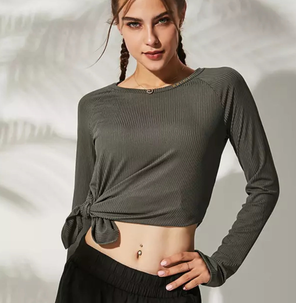 Loose Side Split Yoga Top