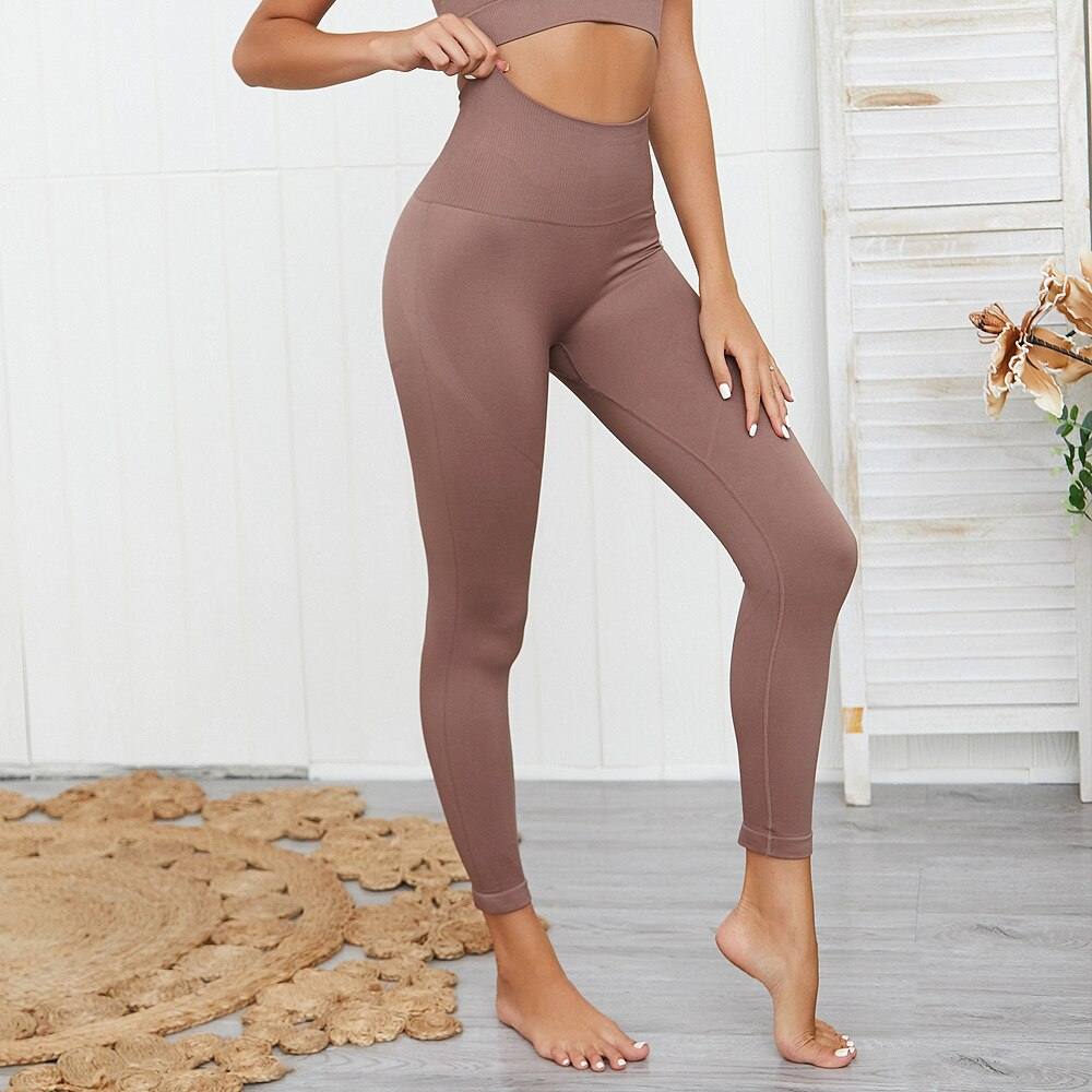 Soft Colored Seamless Yoga Leggings
