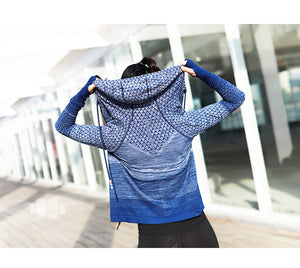 Hooded Long Sleeve Yoga Shirts