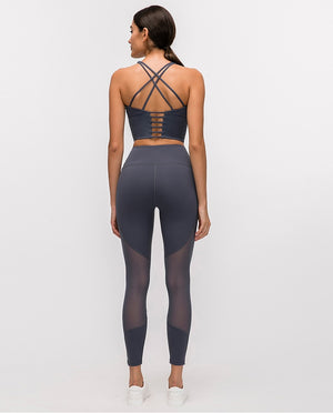 Cross Back Padded Yoga Top