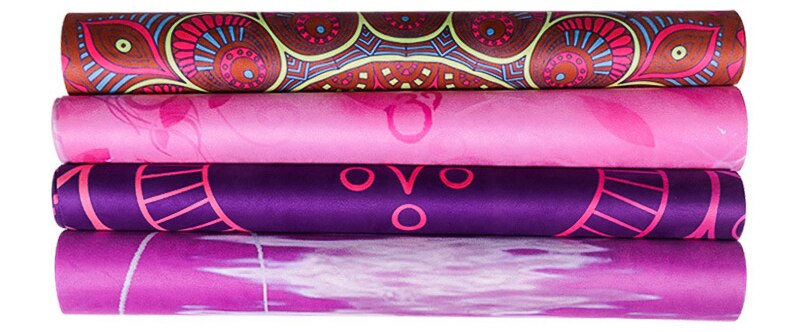 Vibrant Natural Rubber Yoga Mat