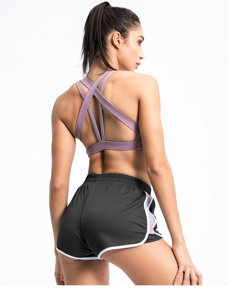 Patchwork 2 in 1 Yoga Shorts