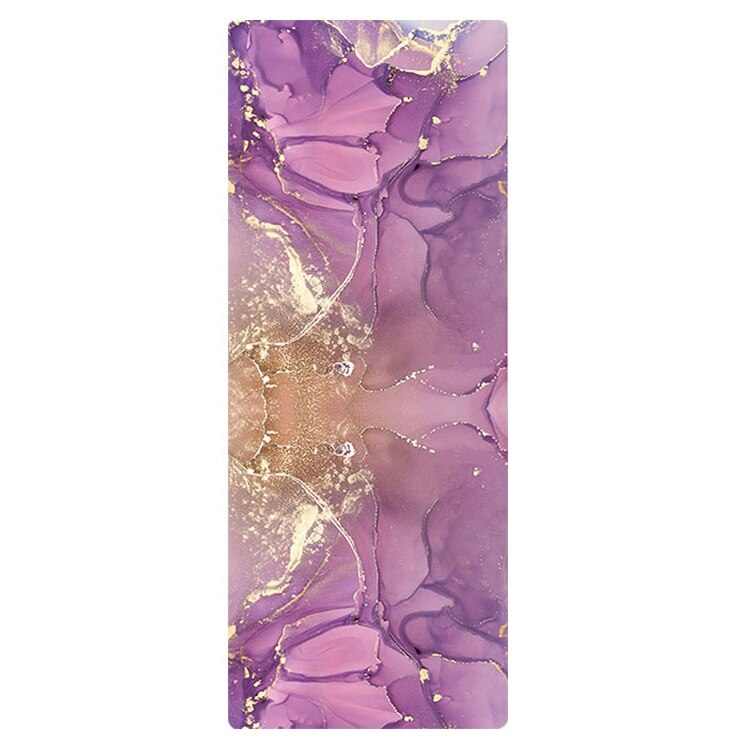 Marble Effect Natural Rubber And Suede Travel Mat