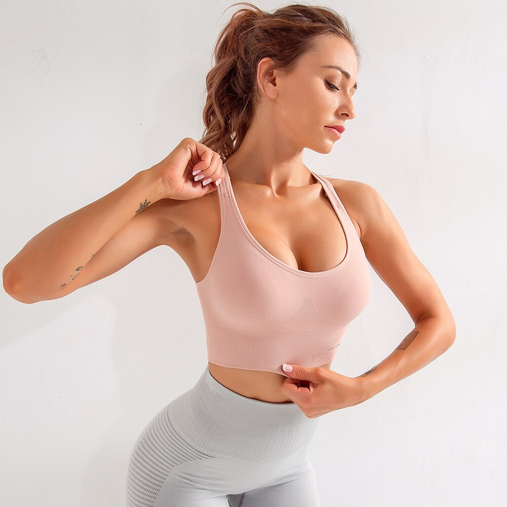 High Impact Push Up Yoga Bra