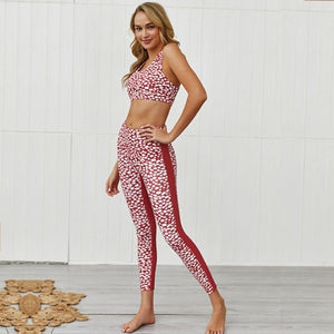 White Spot Yoga Set