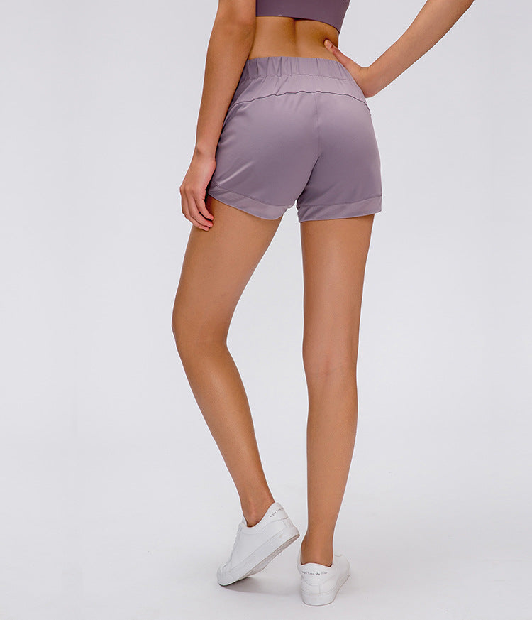 Loose Drawstring Yoga Shorts