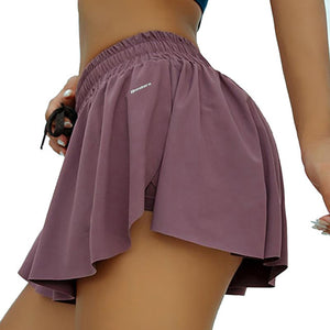 Yoga Shorts With Skirt