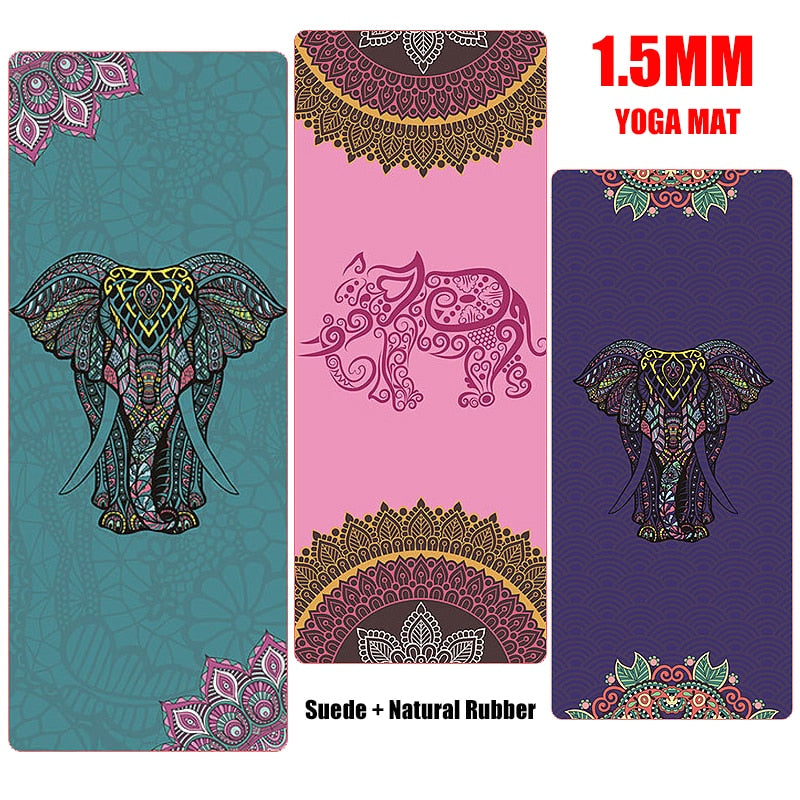 Elephant Print Natural Rubber Travel Mat