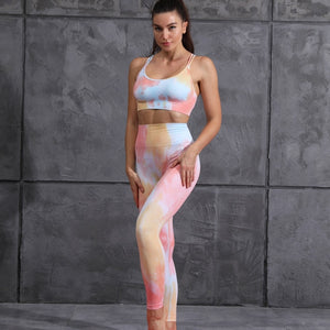 Seamless Rainbow Yoga Set
