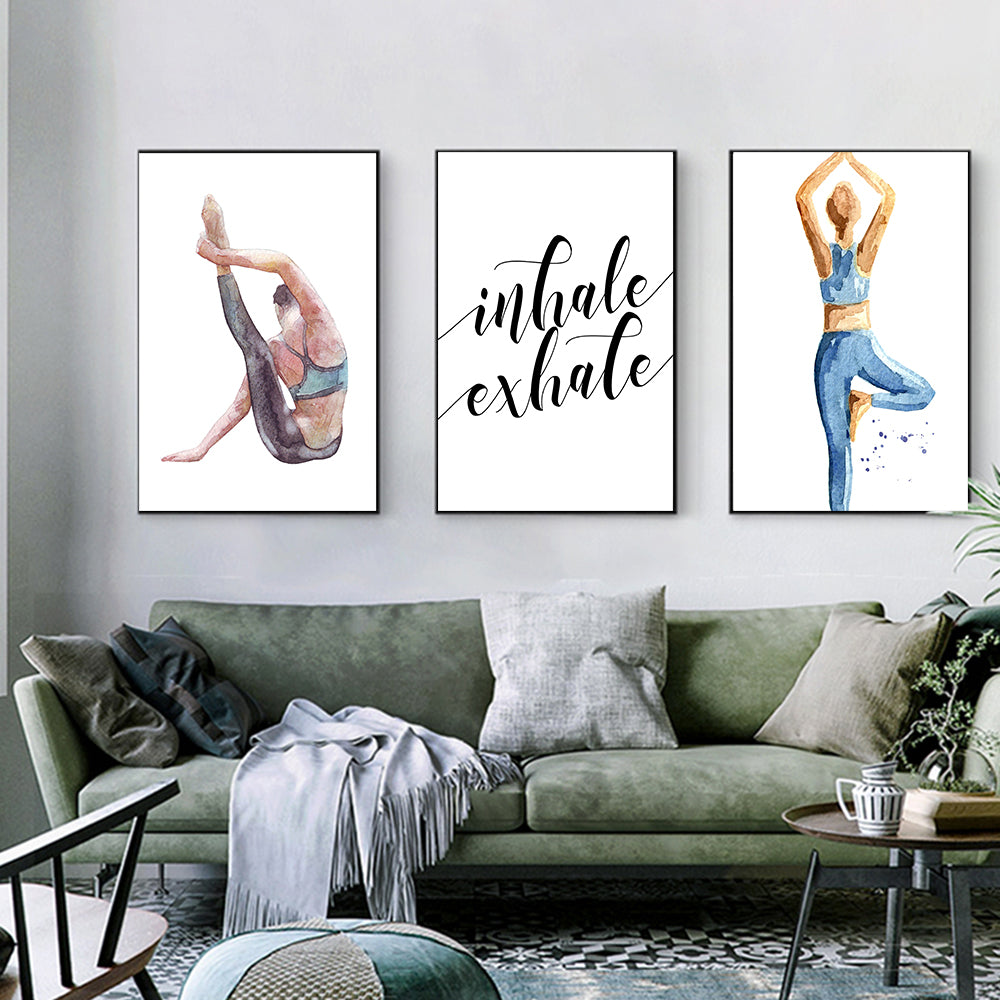 Inhale Exhale Yoga Pose Posters