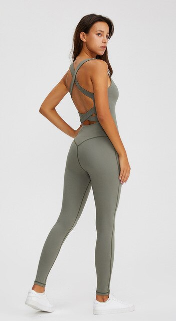 Double Cross Yoga Jumpsuit