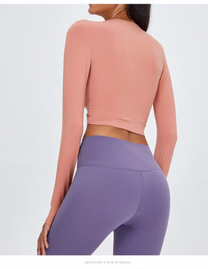 Front Twist Long Sleeve Yoga Top
