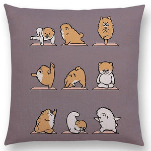 Yoga Animals Cushion Covers