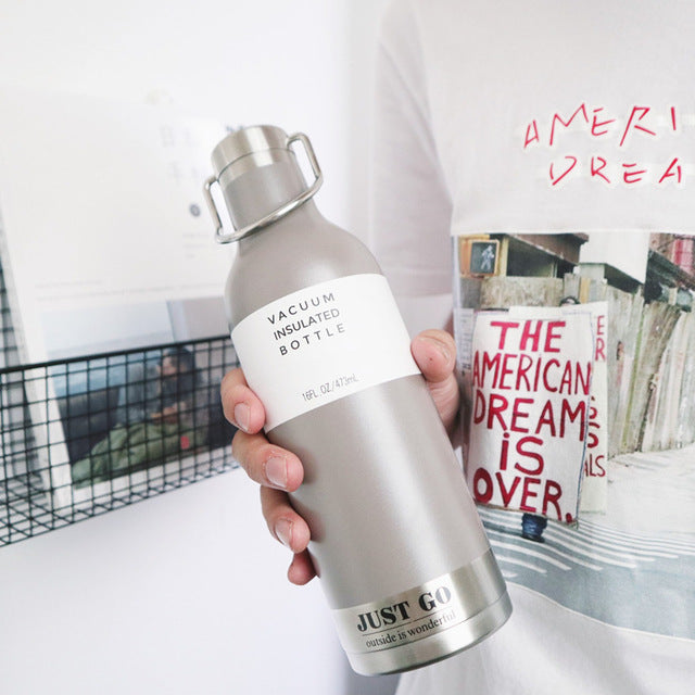 stainless steel drink bottle