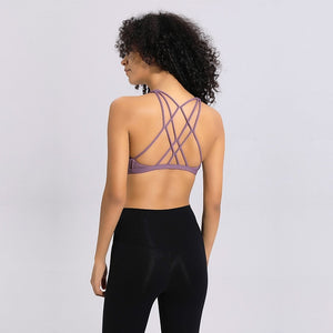 Cross Straps Padded Yoga Sports Bra