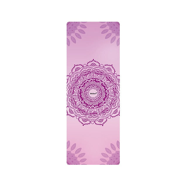 1mm Natural Rubber Yoga Mat With Paisly and Mandala Print