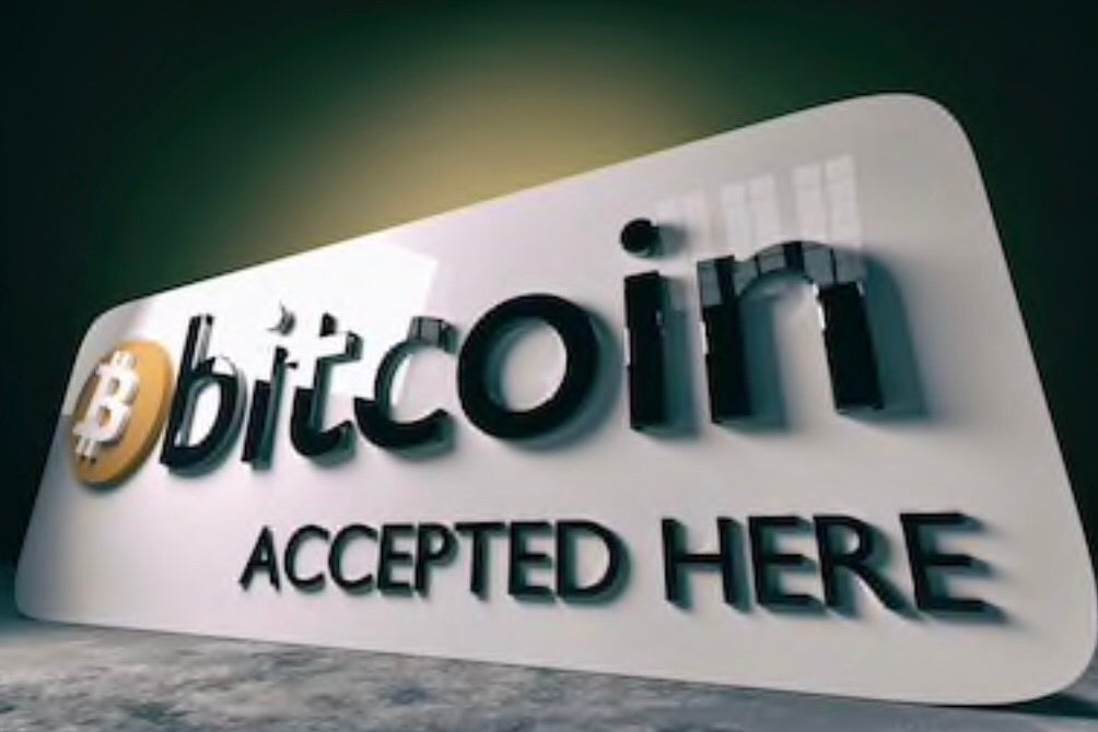 Bitcoin Accepted Here Art Metal Print