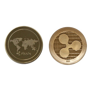 Copper Ripple Coin Commemorative Crypto Currency Plated Coin Collectible