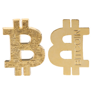 BTC Gold Coin 3D Shaped Bitcoin Hollow Gift