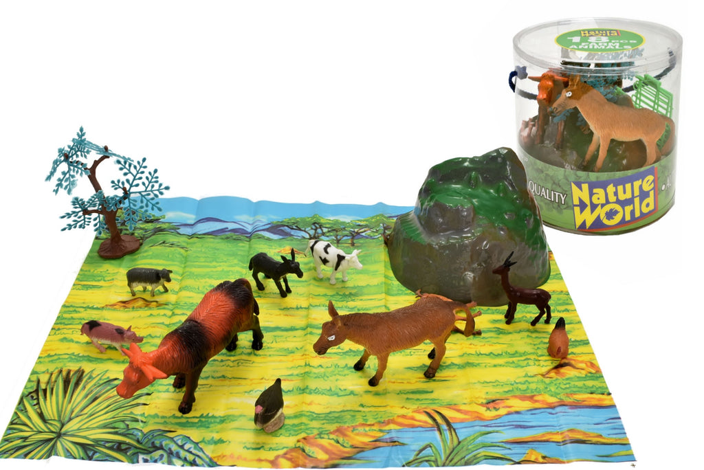 Farm Animals 18pcs Tub